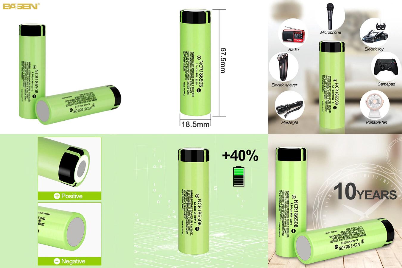 Оригинальная аккумуляторная батарея Basen для фонариков