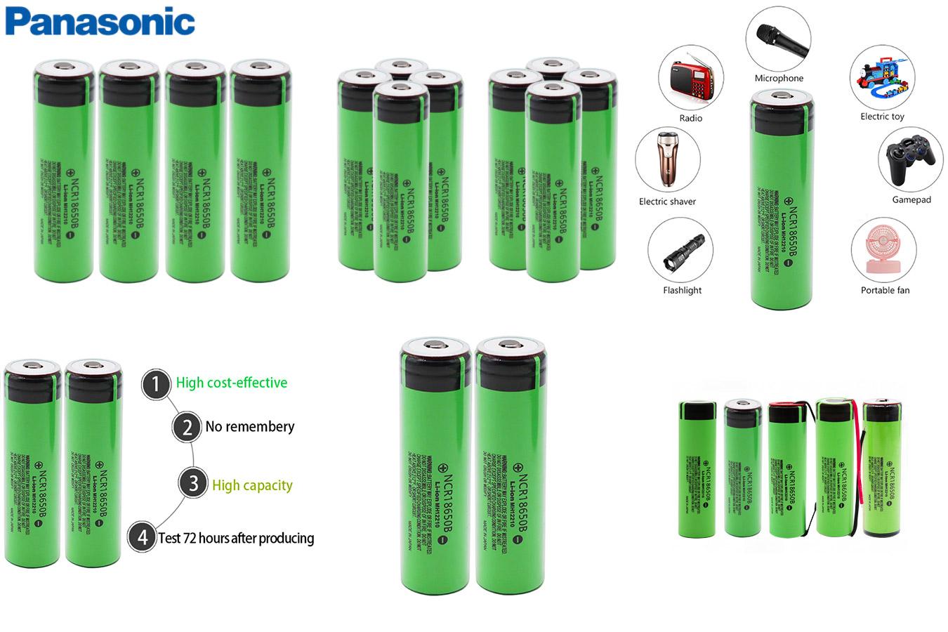 Перезаряжаемые литиевые батарейки Panasonic
