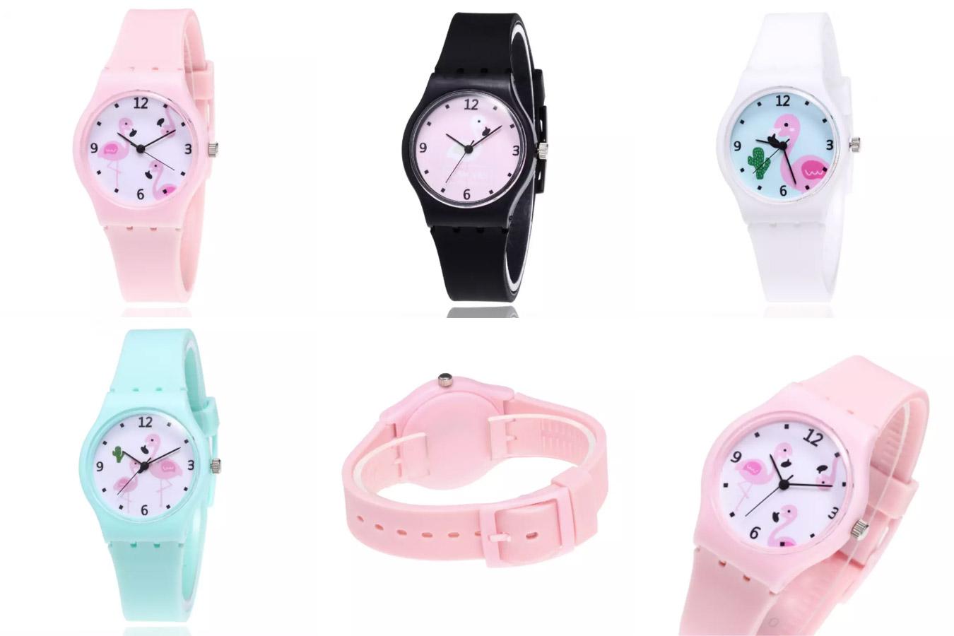 Часы с фламинго с алиэкспресс
