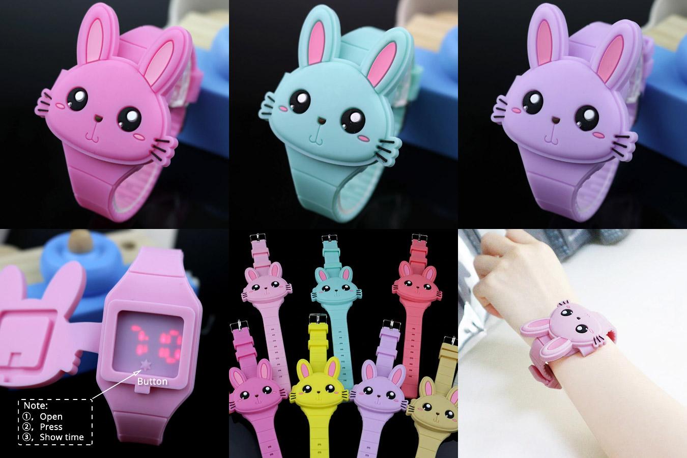 Детские часы в виде кролика