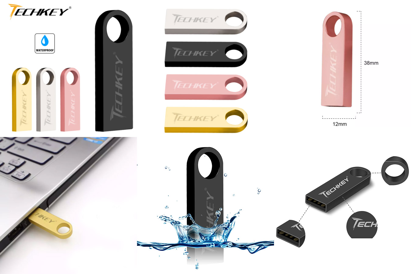 Водонепроницаемая USB-флешка