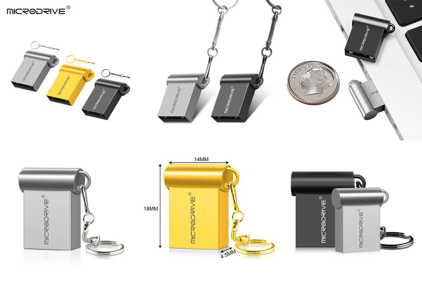 Микро металлический USB флеш-накопитель