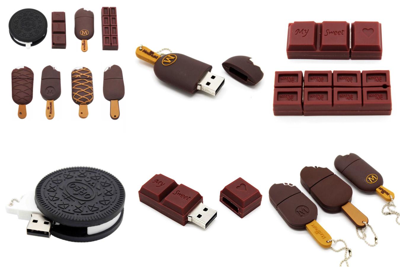Флеш-накопитель в виде шоколадного печенья Орео и мороженого