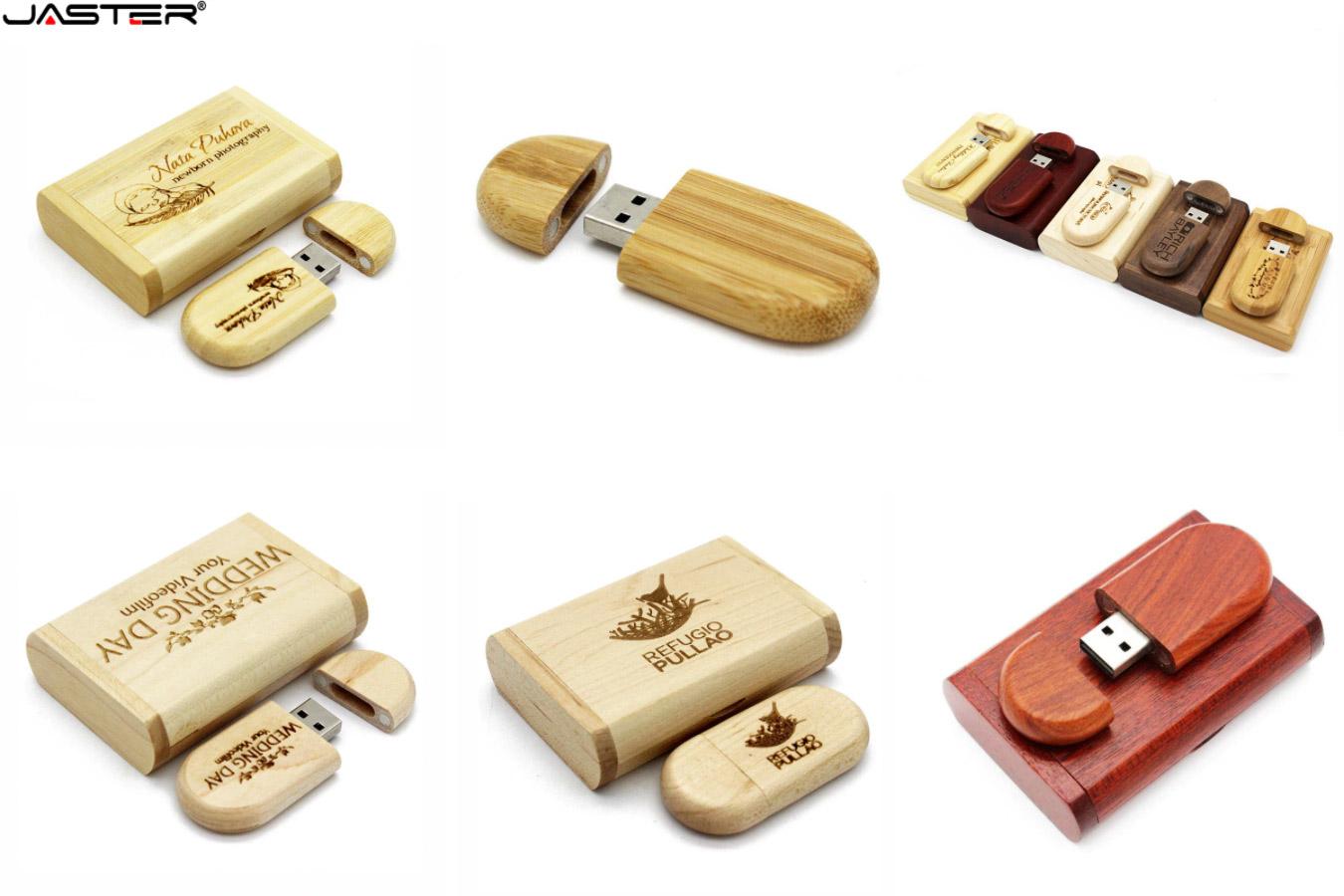 Деревянный флеш-накопитель с логотипом