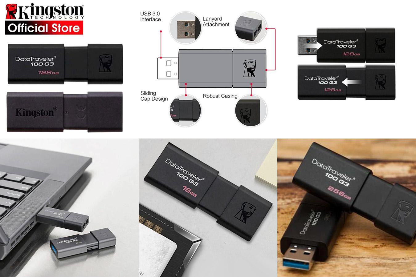 USB-флешка с выдвижным разъёмом KingSton