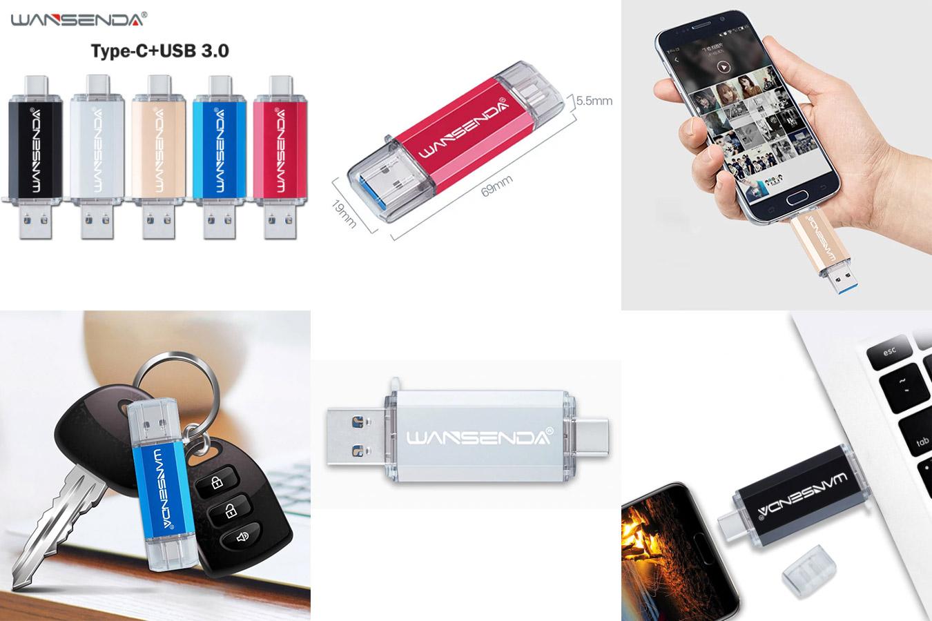 Стильная USB-флешка со стандартом подключения 3.0.