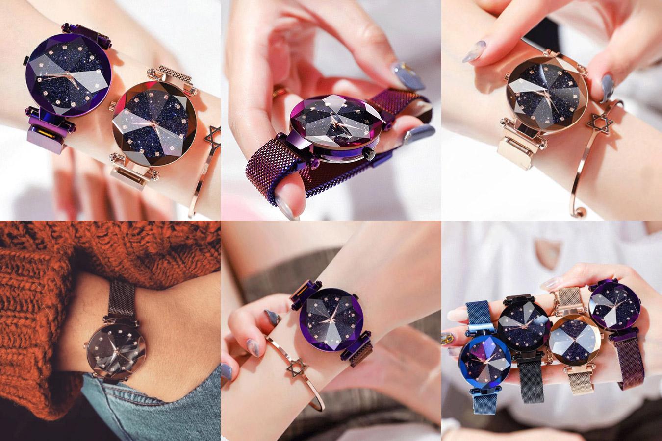 Магнитные женские часы