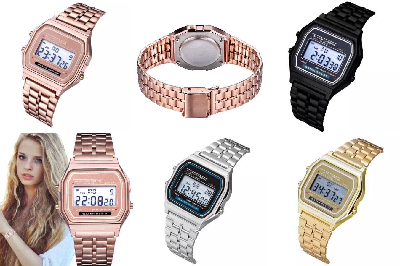 Цифровые женские часы