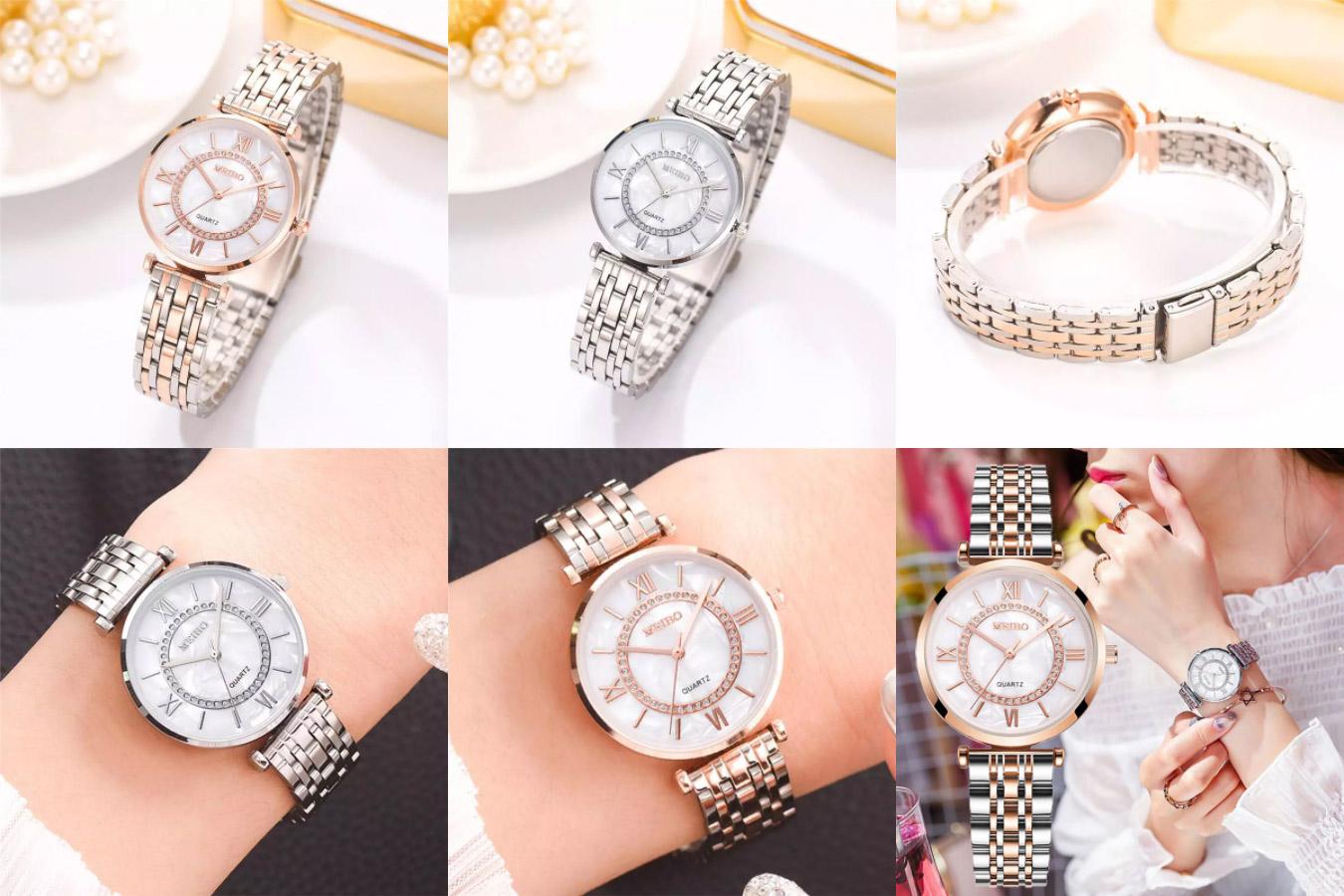 Мраморные женские часы