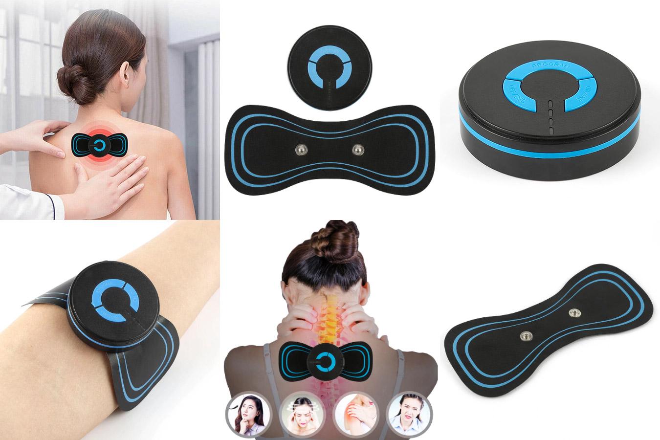 Портативный электрический мини-массажер для шейного отдела спины