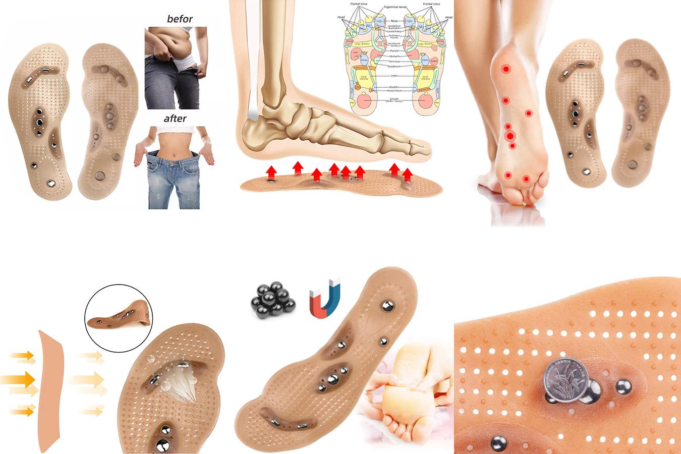 Магнитные стельки для массажа ног