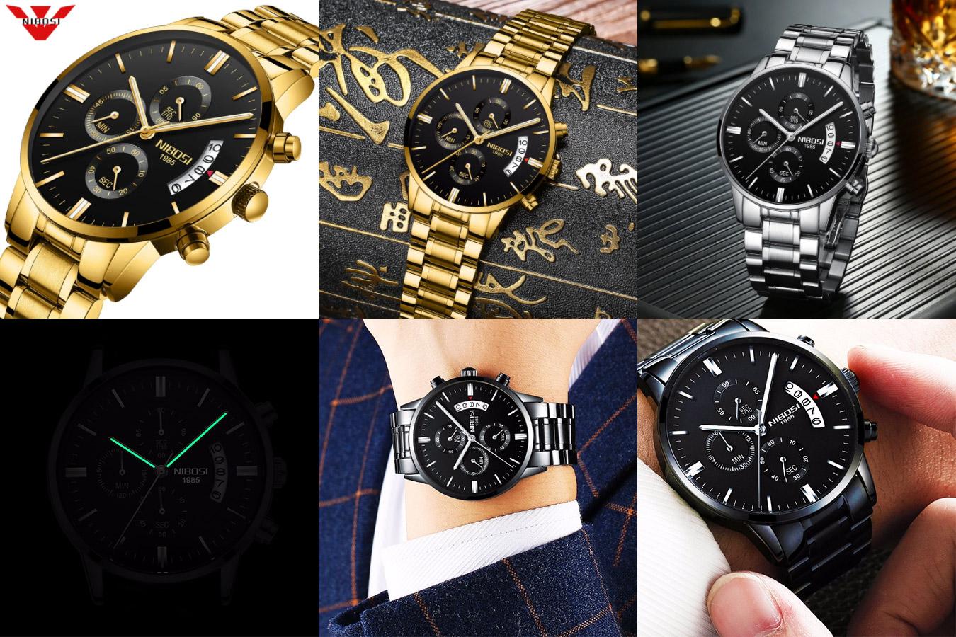 Уникальные мужские часы NIBOSI