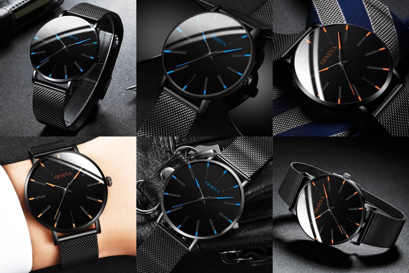 Минималистичные часы мужские часы