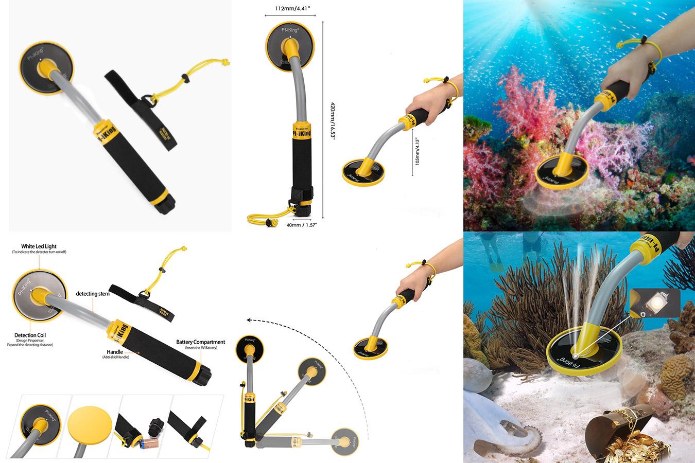 Точечный подводный металлоискатель