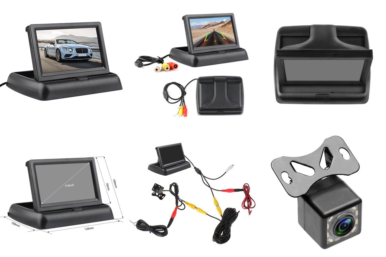 Складной автомобильный монитор