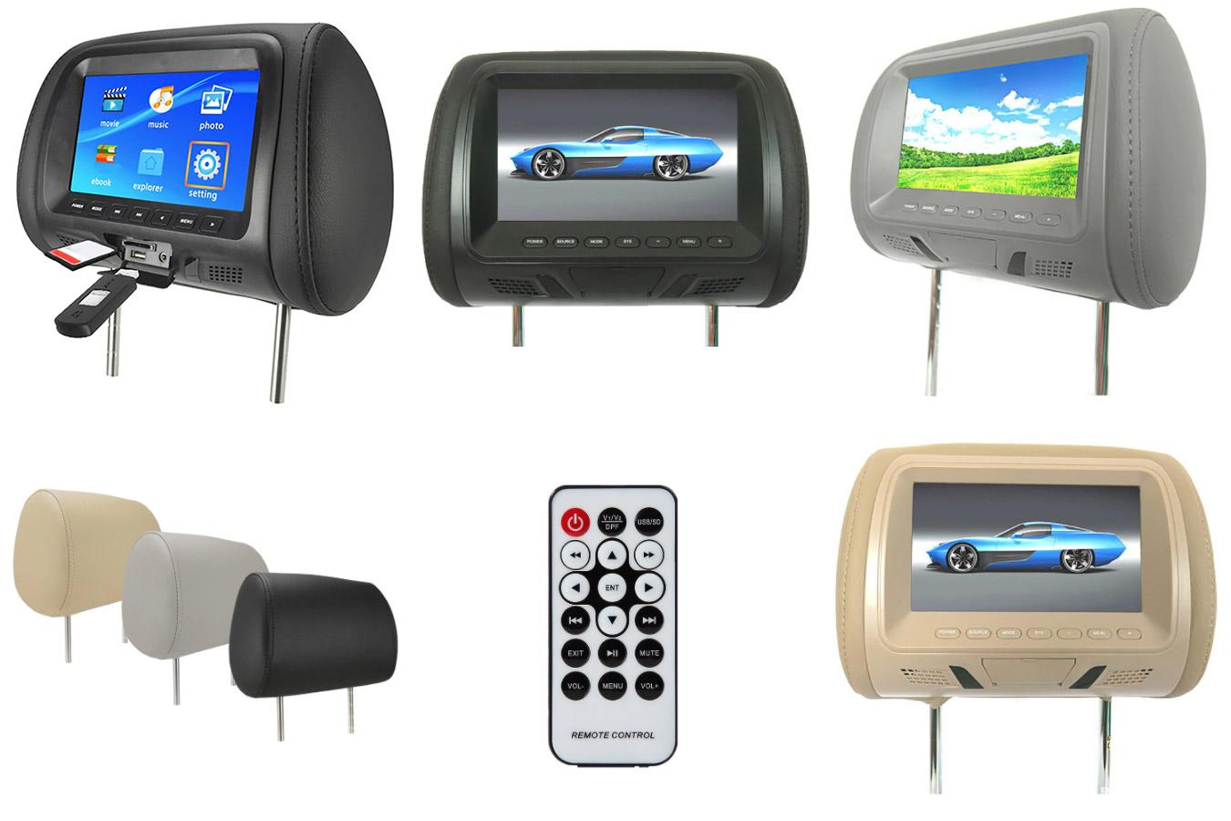 Многофункциональный автомобильный подголовник-экран