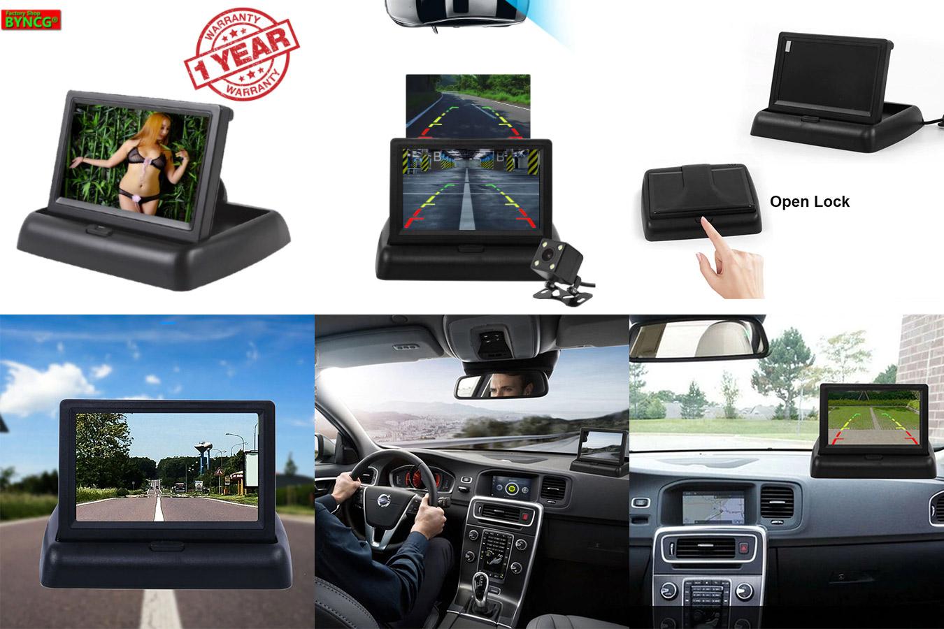ЖК-дисплей для авто с функцией показа вида сзади