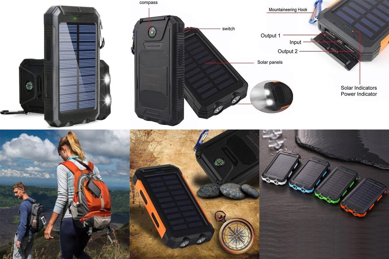 Солнечный внешний аккумулятор для путешествий