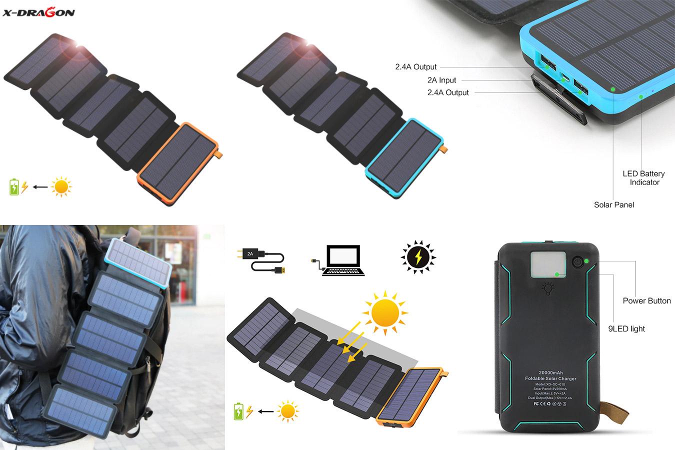 Большой аккумулятор на солнечной батарее