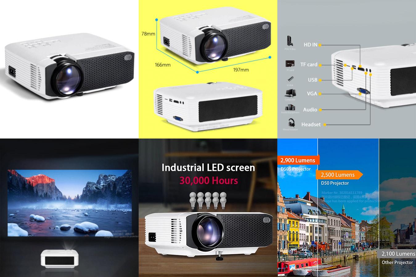 Портативный проектор для дома и улицы