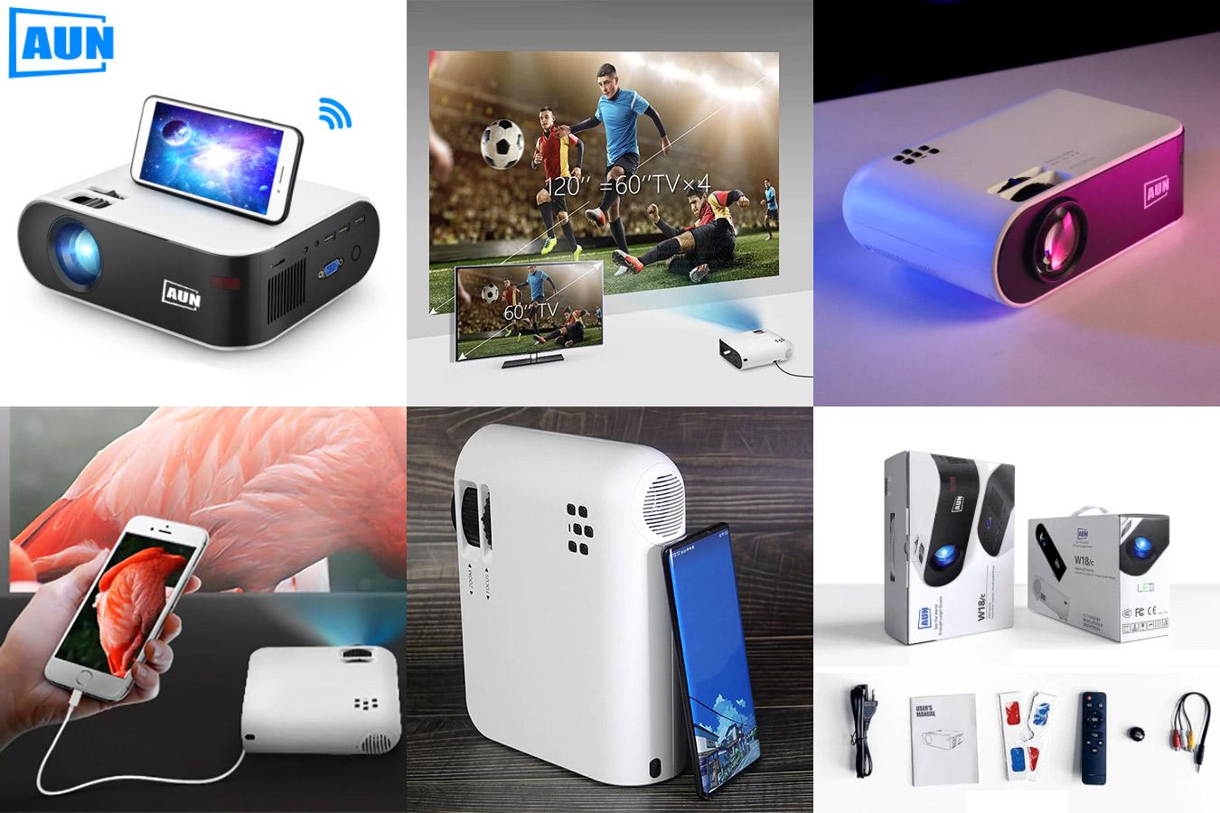 Светодиодный проектор для дома с 3D