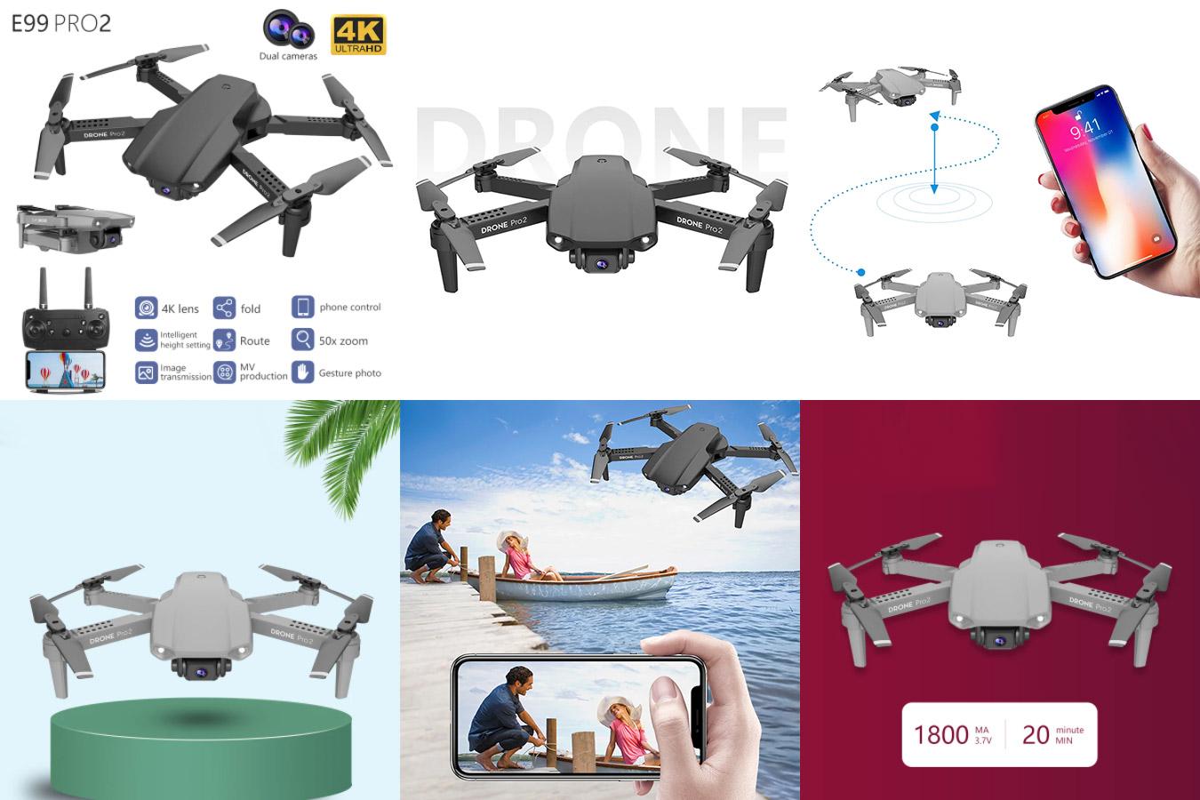 Мини-дрон с камерой 4К