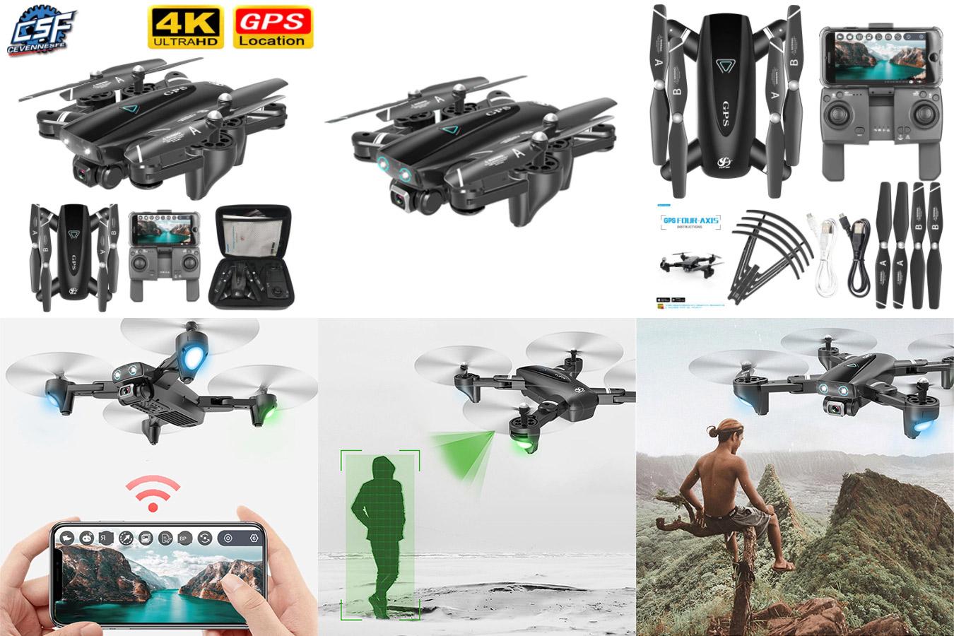 Квадрокоптер S167 c GPS и камерой и поддержкой 5G