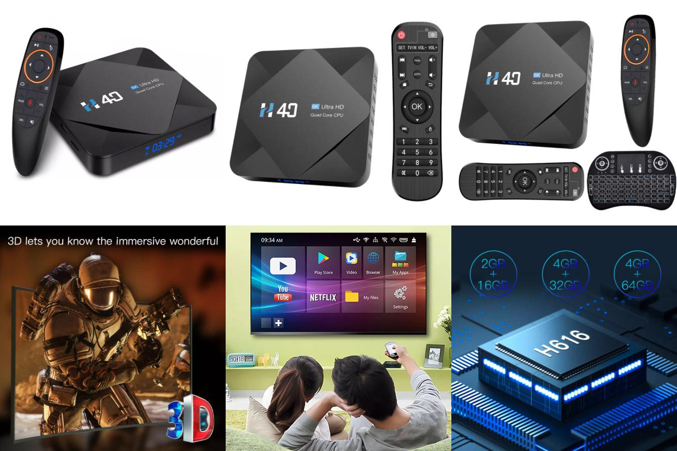 Беспроводная телеприставка Android Box H616