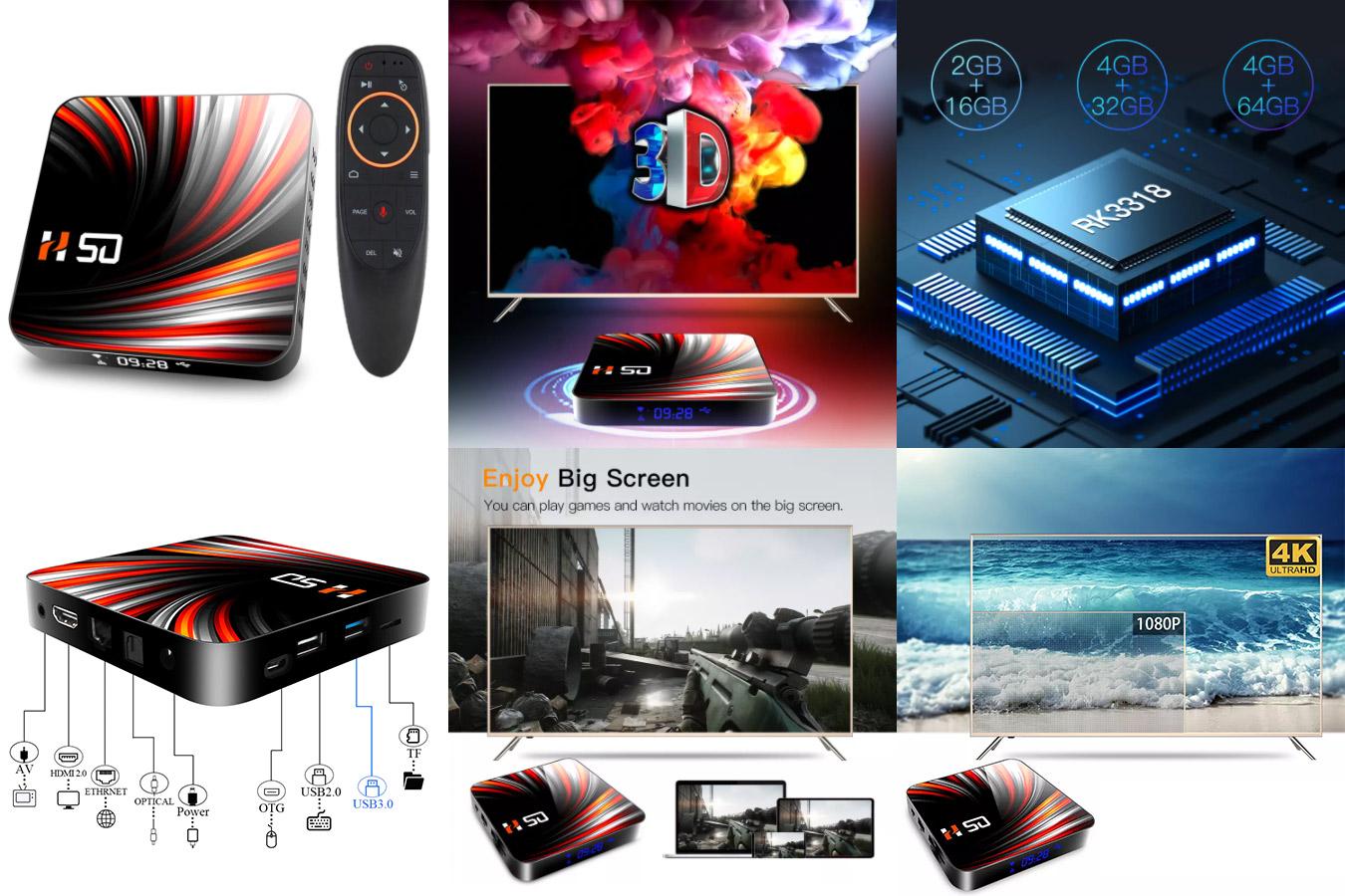 ТВ-приставка H50 на Android 10