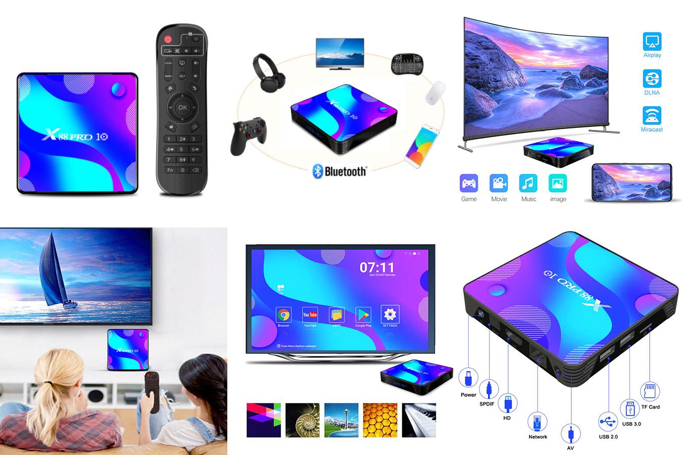Смарт-ТВ приставка X88 Pro 10
