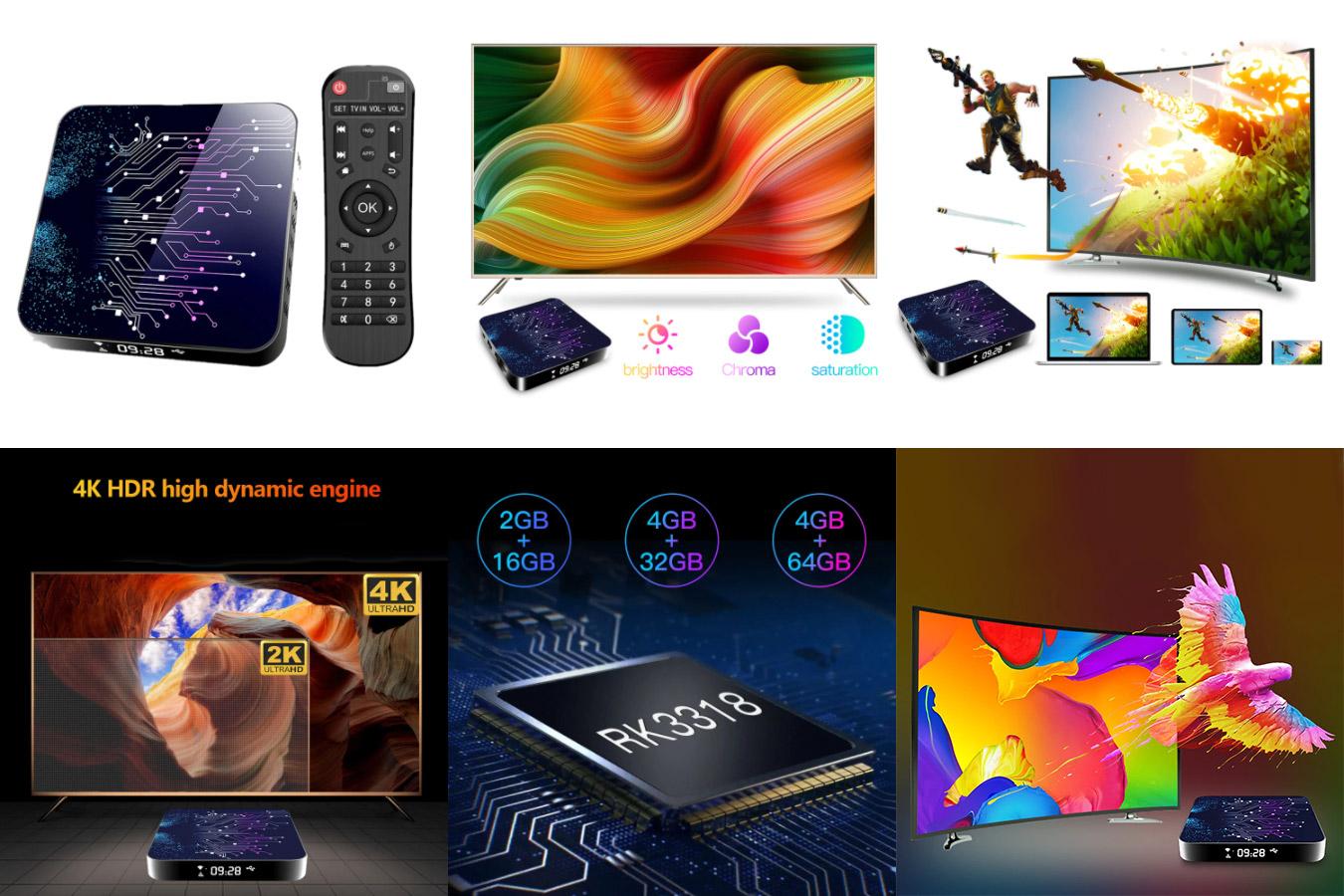 Приставка Смарт-ТВ H30 на Android 10