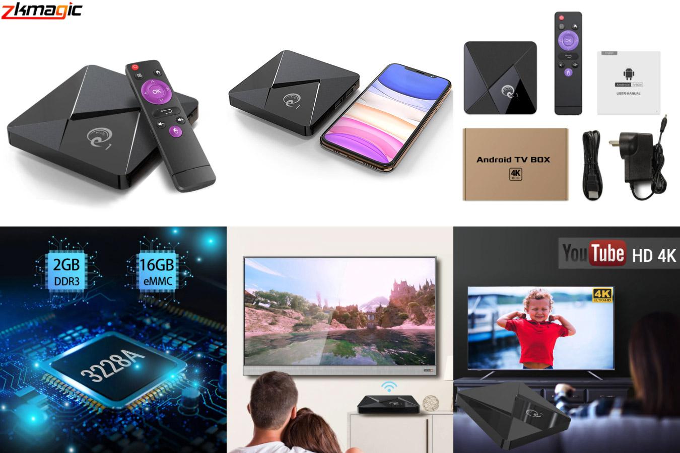 Телевизионная приставка Q1 Mini на Android 9
