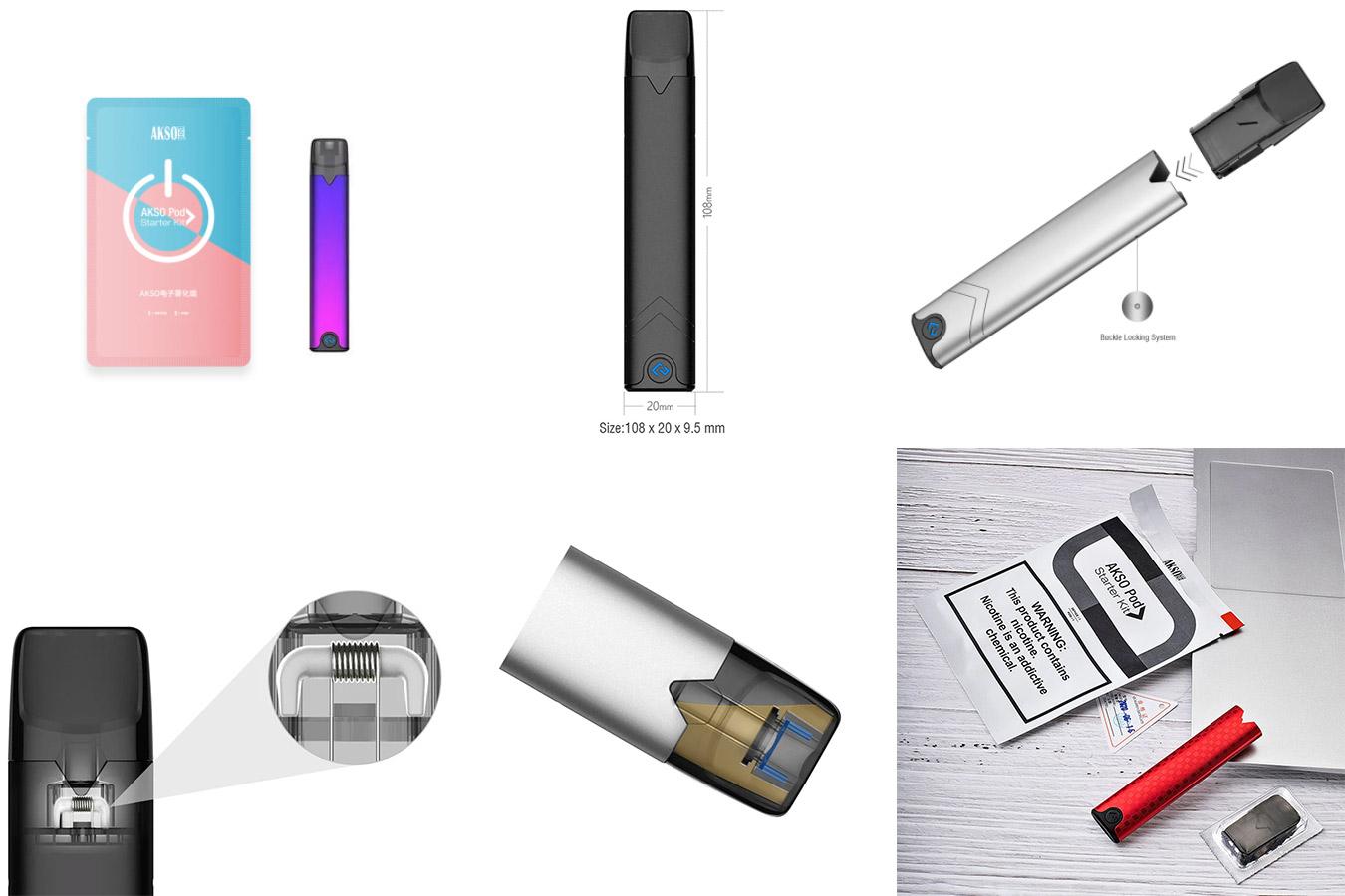 Электронная сигарета с ручкой и картриджем