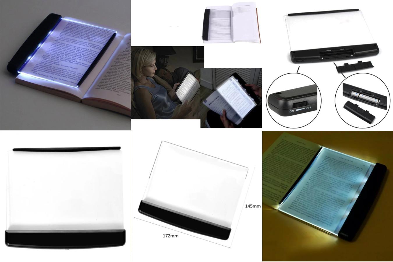 Светодиодный светильник для чтения с пластиной