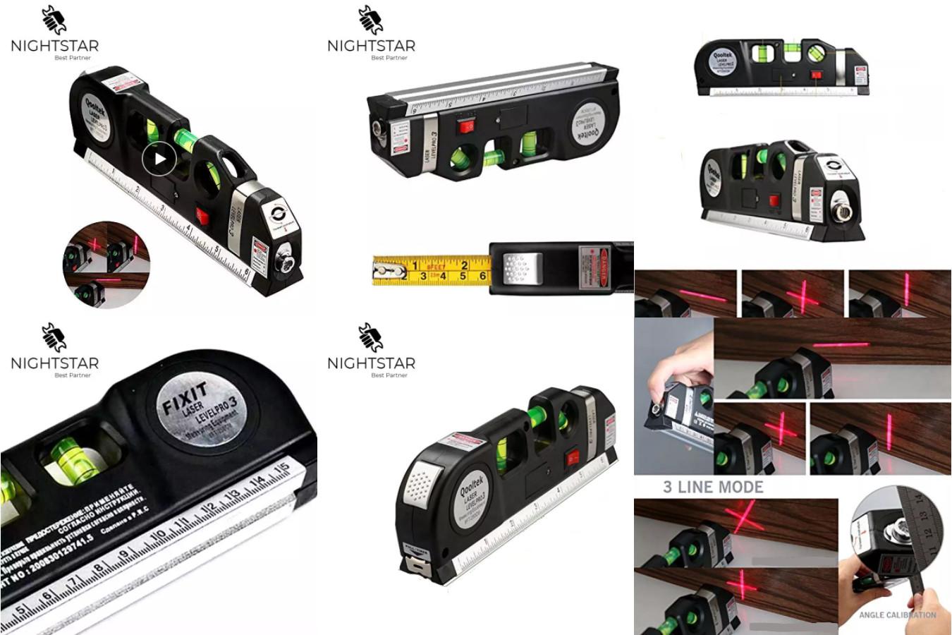 Компактный лазерный уровень — Fixit Laser Level Pro 3