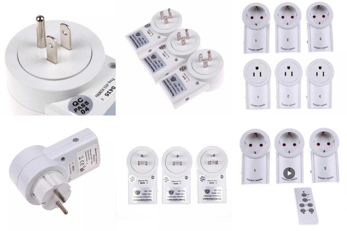 Розетка с пультом ДУ — ALLOYSEED Wireless Switch Socket