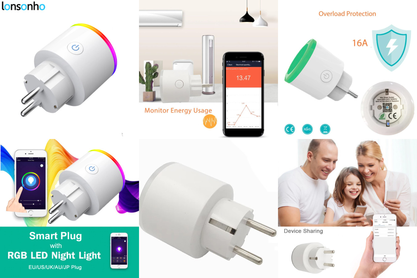 Розетка — ночник — Lonsonho Smart Plug