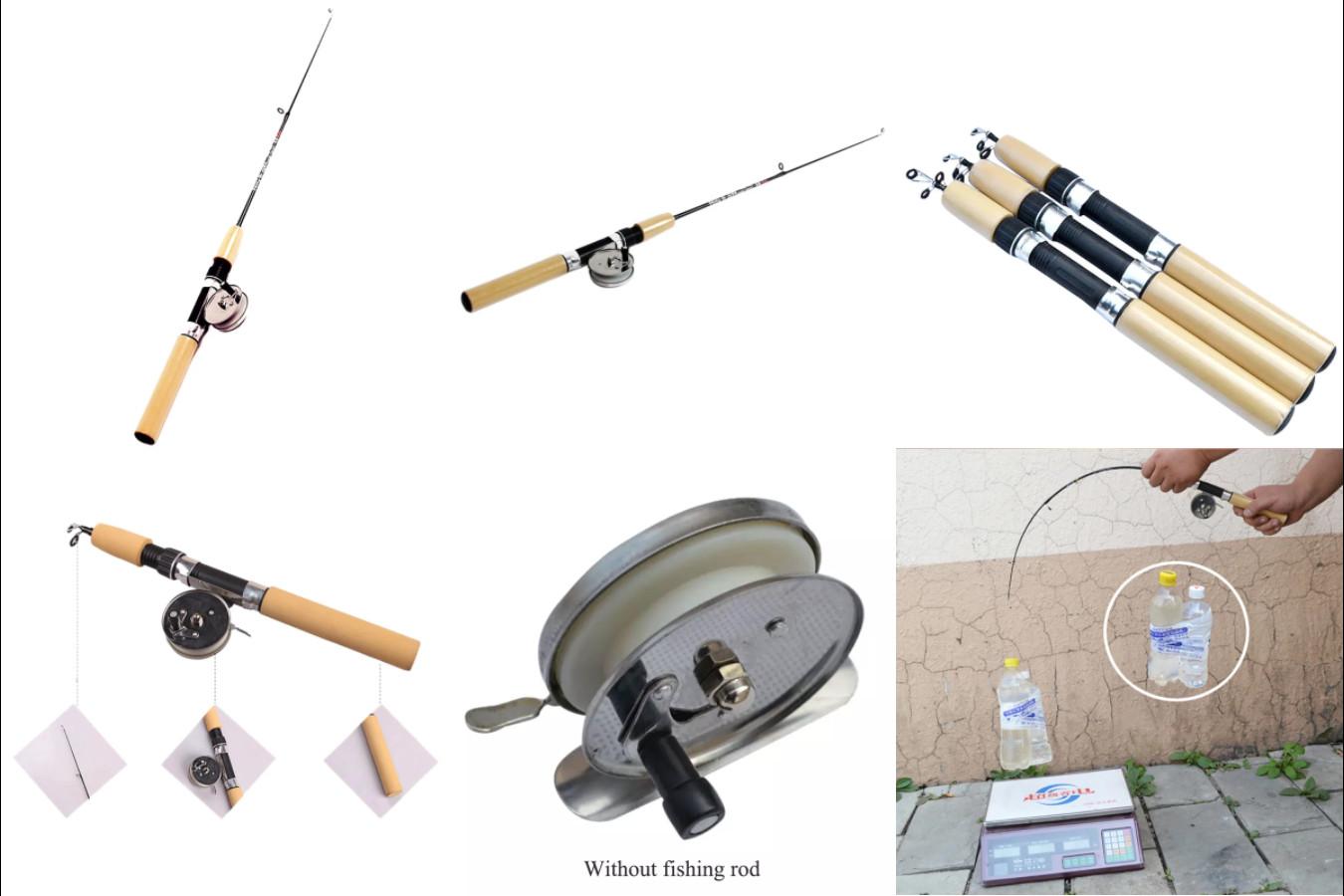 Телескопическая удочка для зимней рыбалки