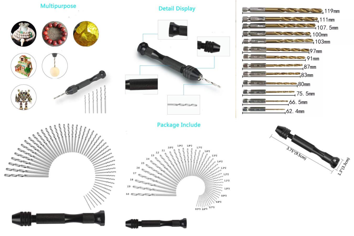 Набор свёрл для ручной дрели