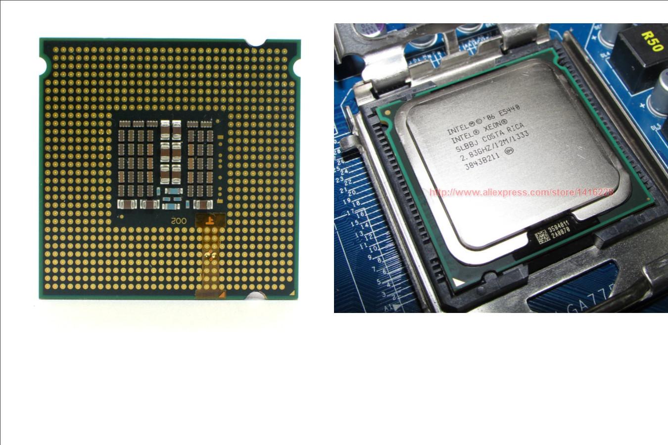 Старенькое четырехъядерное ЦПУ — Intel Xeon E5440