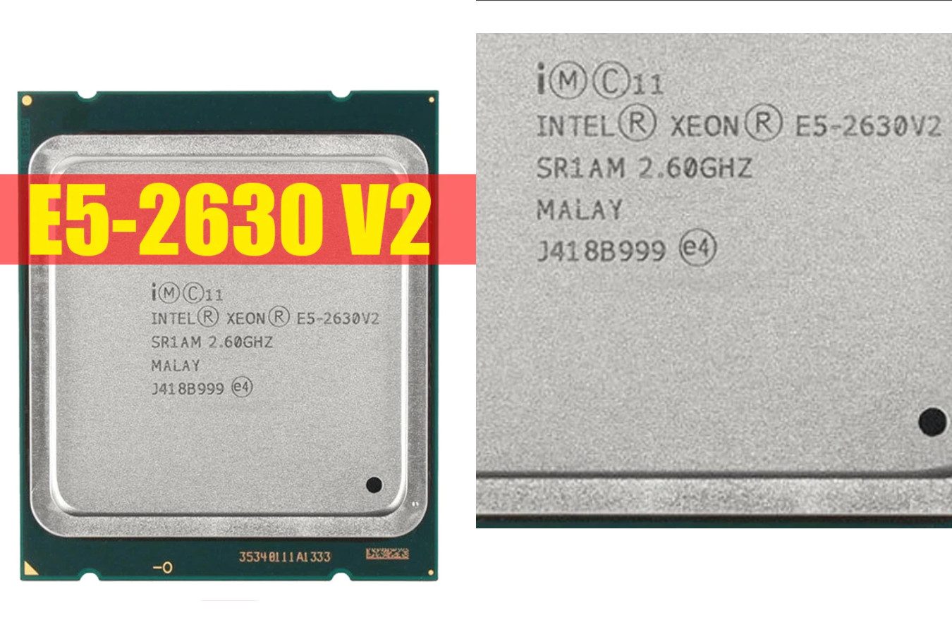 Процессор в хорошем состоянии — Intel Ксеон E5 2630 V2