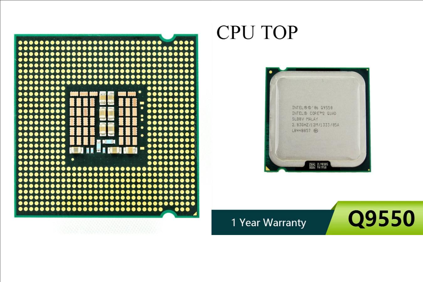Бывшее в употреблении ЦПУ — Intel Core 2 Quad Q9550