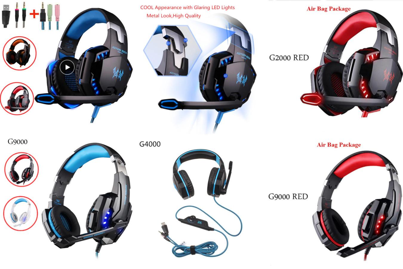 Игровые наушники с микрофоном - KOTION EACH G2000/G4000/G9000