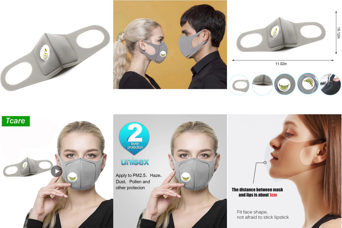 Губчатая многоразовая маска