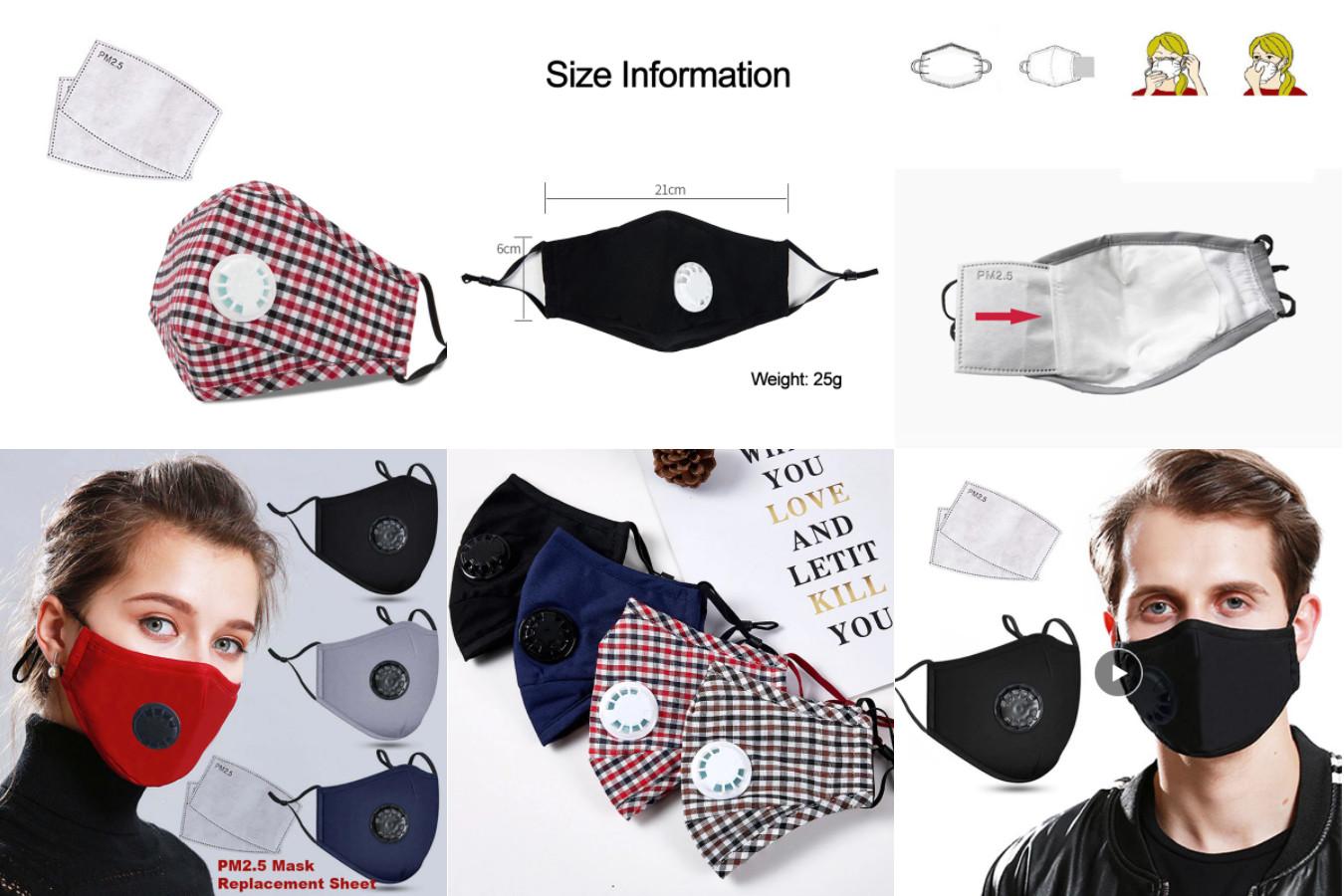 Популярная маска с клапаном