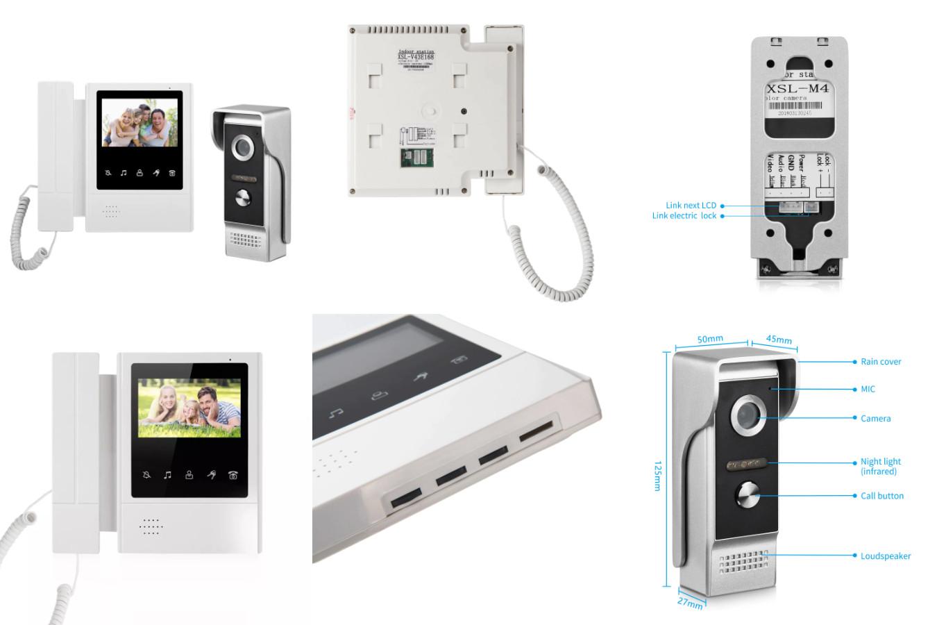 Домофон с подключением к подъездному — XinSiLu 4.3» Video Door Phone
