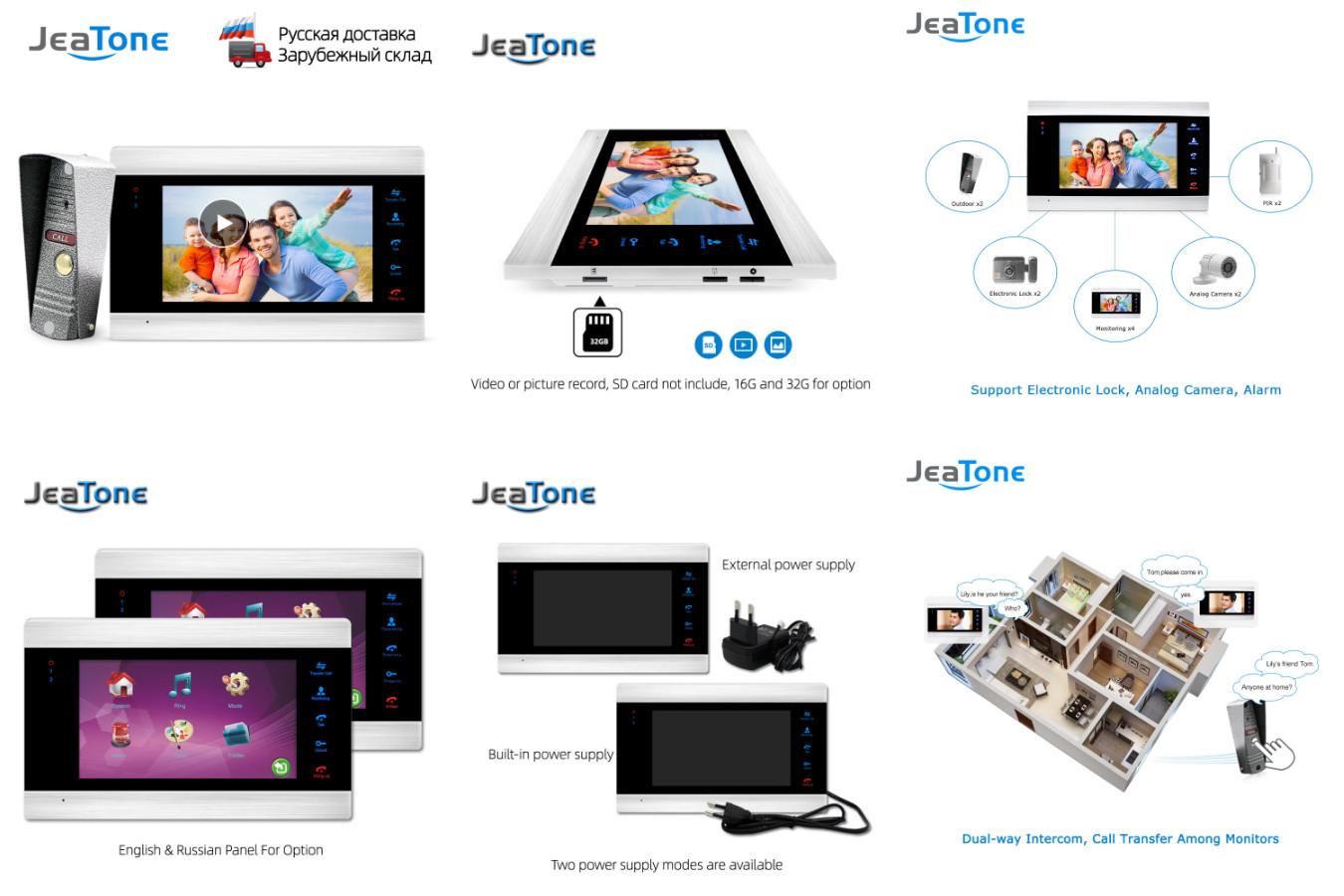 Всесезонынй домофон — JeaTone 1200TVL