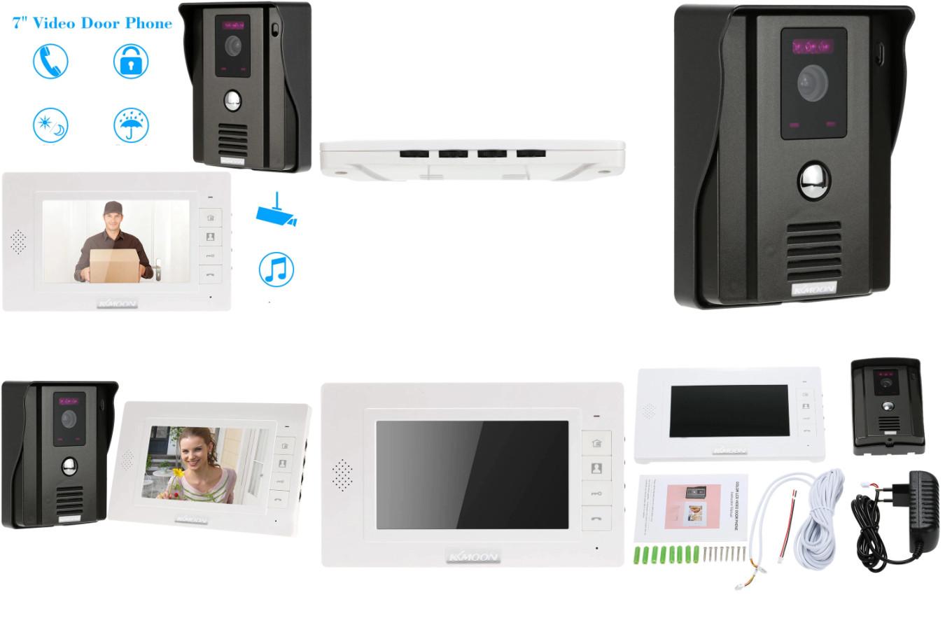Видеодомофон с водонепроницаемым корпусом — KKmoon TFT LCD