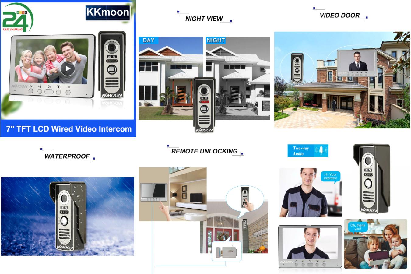 Домофон с лучшей комплектацией — KKMOON Video Door Phone System