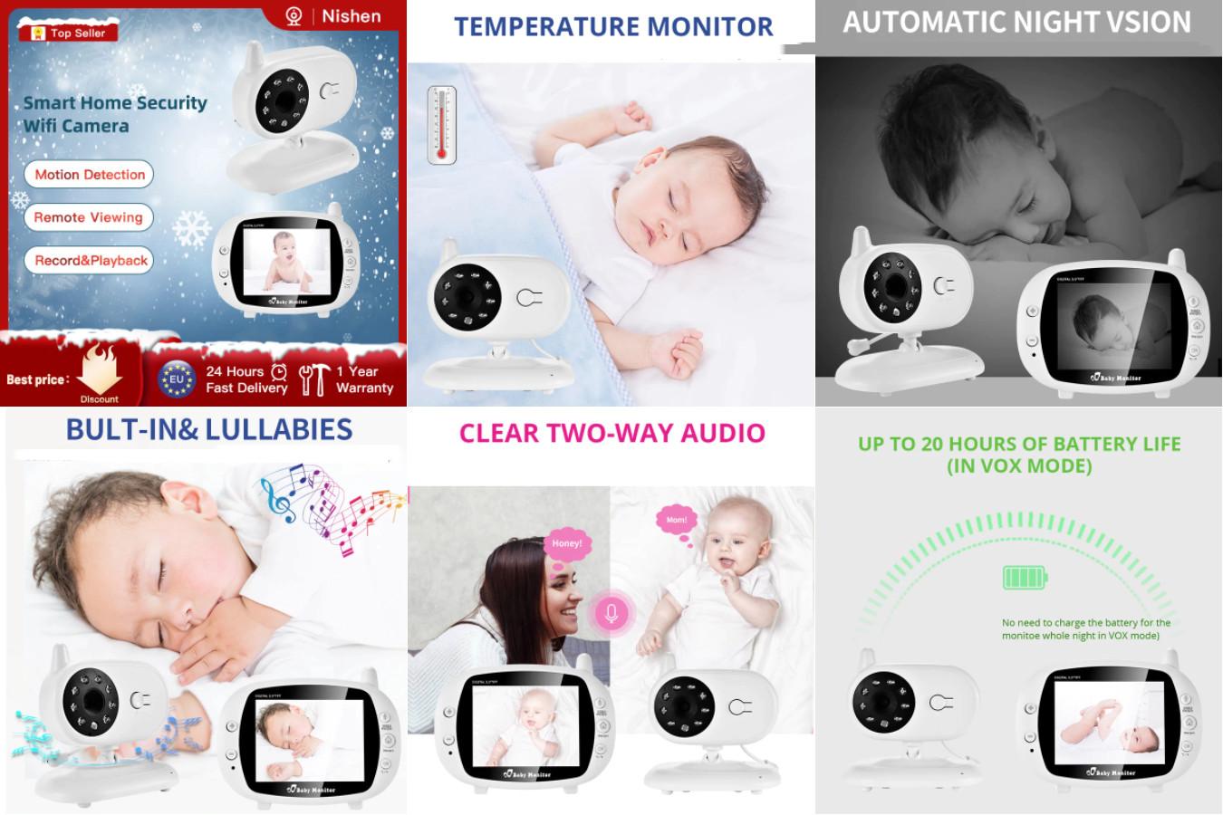 Видеоняня с простым управлением — Ni-SHEN Baby Monitor